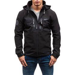 Czarna kurtka męska przejściowa Denley 2139 Kurtki i Płaszcze 119.99 (-29%)