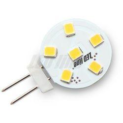 Żarówka LED 6 SMD G4 12V 1,2W biała ciepła - biała ciepła