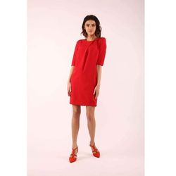 suknie sukienki sukienka prosta z krotkim rekawem z makramy