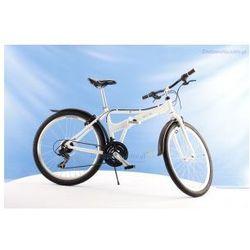 Aluminiowy rower składany SKŁADAK MIFA 26 cali, 21-biegów SHIMANO biały