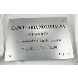 SZYLD NOTARIUSZA - godziny otwarcia - SZ026 - wym. 50x35cm