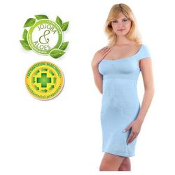 Babyono - Koszulka nocna dla matek karmiących - błękitna - XL