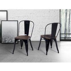 Krzeslo czarne – drewno – do jadalni - kuchenne - APOLLO