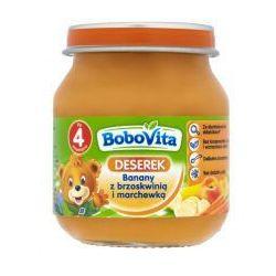 BoboVita Owoce Winogrona,banany i brzoskwinie z marchewką po 5 miesiącu 125 g