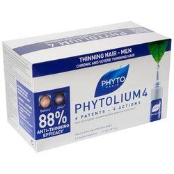 PHYTO PHYTOLIUM 4 Koncentrat w ampułkach na łysienie typu męskiego - wypadanie włosów 2ml x 12ampułe