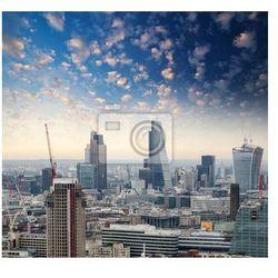 Fototapeta London. Piękna panorama miasta o zmierzchu, z lotu ptaka