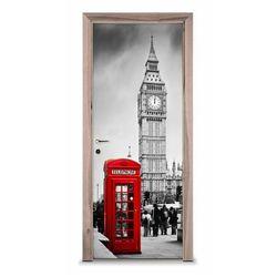 Naklejka na drzwi - Budka w Londynie 7206