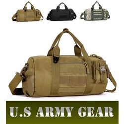 Outdoor Camouflage Drum Bags Men's Travel handbag U.S Gear Military Tactical Messenger Bag Portable Sports Fitness Bags