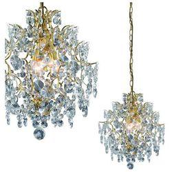 Żyrandol LAMPA wisząca ROSENDAL 100524 Markslojd kryształowa OPRAWA ZWIS IP23 crystal złote przezroczysty
