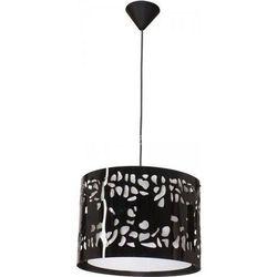 TWIX 1 zwis duży czarny krople - żyrandol/lampa wisząca