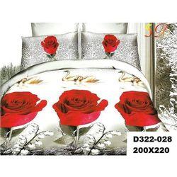 Komplet Pościeli 200x220 Pościel 3D róże 3cz 028 - 028