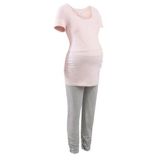 82509937a5e5a7 Piżama do karmienia bonprix pastelowy jasnoróżowy - szary - porównaj ...