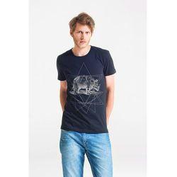 RHINO - Koszulka Męska T-shirt CZARNY