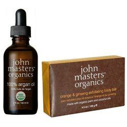 John Masters Zestaw: olejek arganowy + mydło złuszczające 59ml+128g