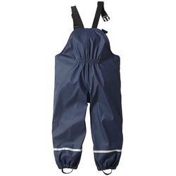 Spodnie przeciwdeszczowe ocieplane bonprix ciemnoniebieski