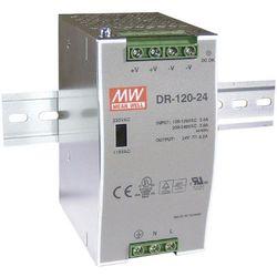 Zasilacz na szynę DIN Mean Well DR-120-24, 24 V/DC, 5 A, 120 W, 1 x