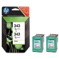 Zestaw tuszy HP 343 / C8766EE Kolor do drukarek (Oryginalny) [2x7ml] - 2 Pack