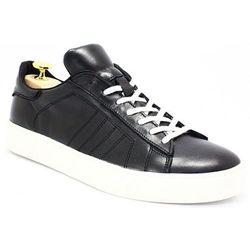 3dd3d90b5 KENT 293 CZARNY-BIAŁY- Skórzane buty sportowe - Biały ||Czarny WYPRZEDAŻ -
