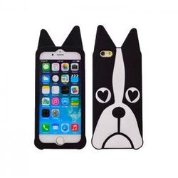 Silikonowa nakładka ANIMAL 3D DOG do iPhone 5/5S czarna