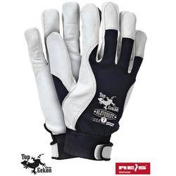 promocja! Rękawice robocze wzmacniane skórą licową RLEVEREST