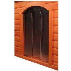 Drzwiczki przezroczyste do budy dla psa ze skośnym dachem Rozmiar:S