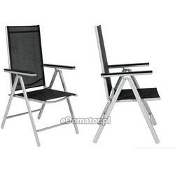 Krzesło ogrodowe aluminiowe MODENA - Czarne
