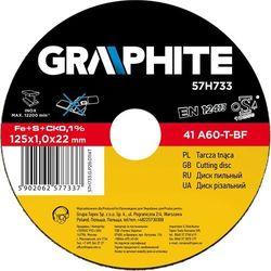 Tarcza do cięcia GRAPHITE 57H690 125 x 0.8 x 22.2 mm do metalu