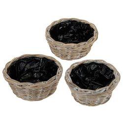 koszyki wiklina ,postarzane VINTAGE 3x.(J09000800)