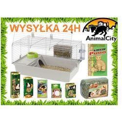 5b45ede61b0eb0 Ferplast Cavie 80 klatka dla świnki, królika z wyposażeniem i kompletną  wyprawką + 2 gratisy