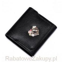 Krótki damski portfel Czarny