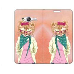 Flex Book Fantastic - Samsung Galaxy Trend 2 Lite - pokrowiec na telefon - hipster kot