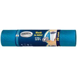 GROSIK 120l 20szt. Worki na śmieci HD niebieskie