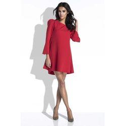 516ec70a9333f4 suknie sukienki sukienka rosita s03 z lezka na dekolcie czerwona ...