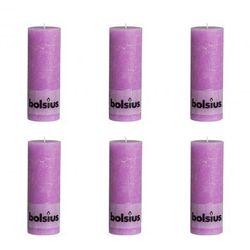 Świece rustykalne, Bolsius (190x68 mm) x6 Jasny fiolet Zapisz się do naszego Newslettera i odbierz voucher 20 PLN na zakupy w VidaXL!