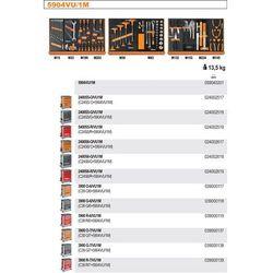 WÓZEK NARZĘDZIOWY 2400/C24S5 Z ZESTAWEM NARZĘDZI, 91 ELEMENTY, MODEL 2400S5-R/VU1M, CZERWONY