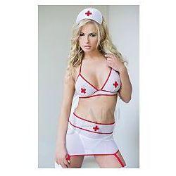 SoftLine Bra Skirt Headband Sharon Model: 1550 White S/M Strój pielęgniarki biały S/M