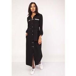 8013e0fb56 suknie sukienki biala czarna sukienka w delikatna kratke z kwiatowym ...