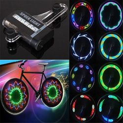 2016 Hot Sale 14 LED Cycling Bicycle Bike Wheel Signal Tire Spoke Light For Ciclismo 32 Changes New Luces Led Bicicleta