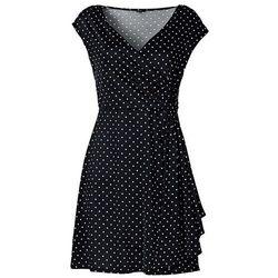 Sukienka w groszki bonprix czarny-ecru