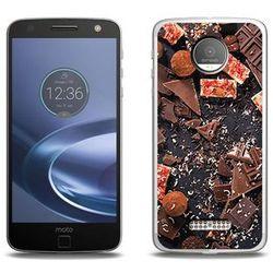 Foto Case - Lenovo Moto Z Force - etui na telefon Foto Case - kawałki czekolady