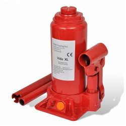 Podnośnik hydrauliczny butelkowy do samochodów czerwony 5 t Zapisz się do naszego Newslettera i odbierz voucher 20 PLN na zakupy w VidaXL!
