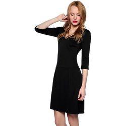 Sukienka z zakładkami czarna