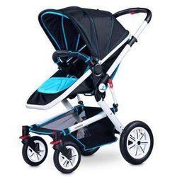 Wózek 2w1 - spacerówka i gondola Compass niebieski