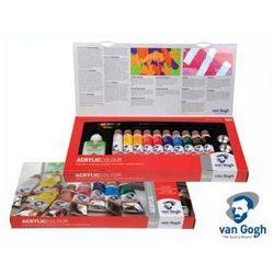 Talens Van Gogh zestaw farb akrylowych 10x40 ml + akcesoria