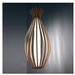 Piękna drewniana lampa wisząca Bamboo z LED
