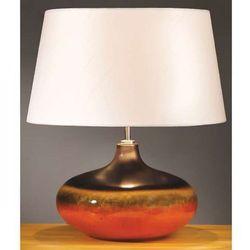 Stojąca LAMPA stołowa LUI/COLORADO SM+LUI/LS1126 Elstead ceramiczna LAMPKA abażurowa pomarańczowy kremowy