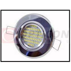 Oprawa ALFA okrągła stała, tłoczona - Satyna / Chrom MAT dla Led 50mm 12V / 230V