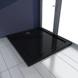 vidaXL Brodzik prysznicowy prostokątny ABS czarny 80 x 90 cm Darmowa wysyłka i zwroty
