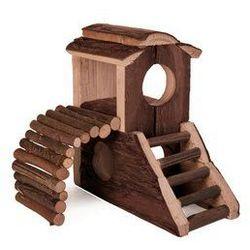 Domek dla gryzoni - drewniany z rampą