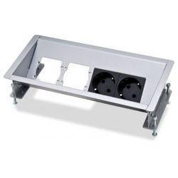 Kindermann CablePort Basic - 2 x zasilanie, 2 x puste pole